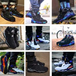 Günstige 8 8s Männer Basketball Schuhe Aqua Chrome Countdown Pack Valentinstag 3PEAT Playoff South Beach Herren Trainer Sport Sneaker 8-13 von Fabrikanten