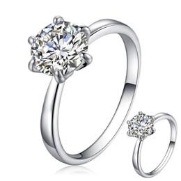 anéis de diamante de strass Desconto Anéis De Casamento De Cristal Cor De Prata Europa e nos Estados Unidos de Noivado Cubic Zircon Anel Moda jóias de mão Para As Mulheres Senhoras Jóias G