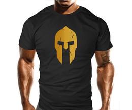 Spartan Casque Hommes T-Shirt Entraînement Entraînement Bodybuilding Gym Fitness Tshirt Hip Hop Style Tops Nouvelle Marque-Vêtements Tee 2018 À Manches Courtes ? partir de fabricateur