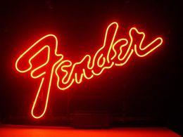 2019 bierzeichen lichter für bars Fender Echtglas-Neonlicht-Zeichen Startseite Beer Bar Pub Aufenthaltsraum Spielzimmer Fenster Garagenwandschild günstig bierzeichen lichter für bars