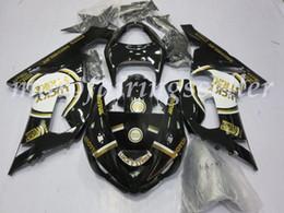 ninja 636 de oro negro Rebajas OEM Calidad Nueva ABS Carenados Moldes de Inyección kits de ajuste del 100% para Kawasaki Ninja ZX6R ZX6R 636 2005 2006 05 06 Carrocería Set brillante Negro Oro