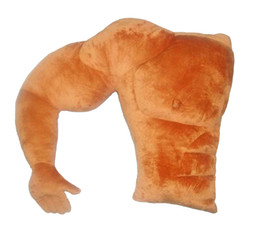 Cuscino di riscaldamento online-Cuscini morbidi Ragazzo muscoloso Forma del braccio Cuscino posteriore Cuscino per letto grande comfort Cuscino caldo Regalo di compleanno per ragazza