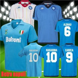 2019 valencia casa cf 1982 1983 1987 1988 napoli Retro MARADONA camisa de futebol Maradona 82 83 87 88 ZIELINSKI HAMSIK INSIGNE Nápoles 1926 Camisolas de futebol retro