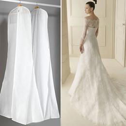 Extra grande de prendas de vestir de novia vestido largo ropa caso del protector de la boda vestido de la cubierta a prueba de polvo cubre bolsa de almacenamiento para los vestidos de boda desde fabricantes