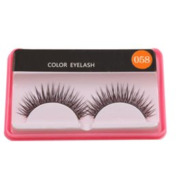 natural false eyelash brand Coupons - 2019 new Color Eyelash Mink Lashes Brand Eyelashes for Makeup Beauty Eye Tool Natural False Eyelashes 23 Style