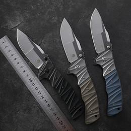 mejores cuchillos pequeños Rebajas pescados plegable cuchillo de piedra petrificada lavar AUS-8 Ball hoja que lleva navajas tácticas CNC G10 herramientas de corte de caza acampar ECD
