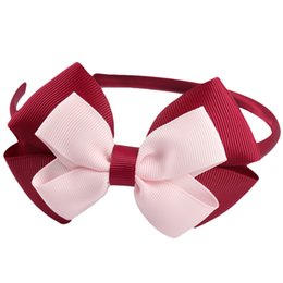 Argentina Nueva moda Hairbands Solid Grosgrain Ribbon arcos diadema hecho a mano Boutique Hairhoop accesorios para mujeres niñas Suministro