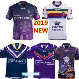 pullover di tempesta Sconti Vendite calde 2019 2020 melbourne storm home rugby Maglia maglietta nazionale di Jerseys National Rugby MELBOURNE STORM magliette s-3xl