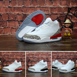 Nike Air Jordan 3 2019 kinder athletic shoes kinder j3 basketball shoes wolf grau kleinkind j3 sport turnschuhe für junge mädchen kleinkind chaussures