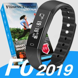 step monitors Coupons - 2019 ID115 F0 for apple Smart Bracelet watch Fitness Tracker Step Counter Activity Monitor Band Vibration Wristband pk fitbit xiao m3