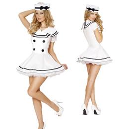 Костюм солдатских женщин онлайн-Хэллоуин Sexy White Lace Sailor Navy женщины ВМС Сейлор костюм для взрослых дам солдат Косплея костюмы