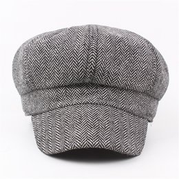 7066156c270 Autumn Winter Fashion Newsboy Caps Vintage Solid Color Berets Peaked Hat  Unisex Wool Octagonal Hats For Women Men Boina Gorro discount newsboy hat  fashion