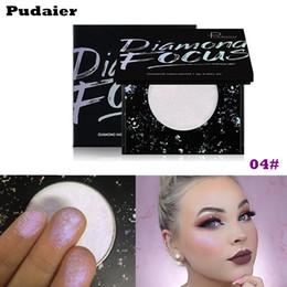 rihanna make-up Rabatt PUDAIER 5 Farben Diamond Focus Highlighter Palette Rihanna Glitter Kartoffelschlamm Shining Powder Weiche Fairy Face Bronzer Make-up
