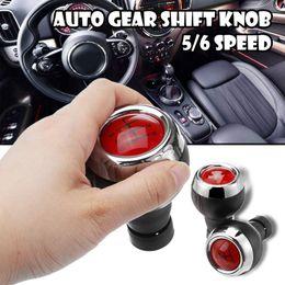 Manopole rosse online-5/6 Velocità Auto manopola del cambio del cuoio della copertura pomello rosso Stick Manuale Gear Shifter Per Mini Cooper R56 R57 R58 R59 R60 R61