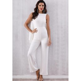 e10b4a00838 Discount wide leg elegant pant jumpsuit - Backless tassels jumpsuits for  women 2019 Elegant white wide
