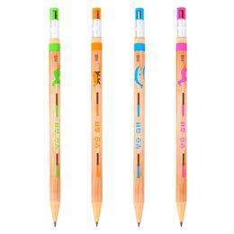 Lapiseira de arte on-line-4 pçs / set Art Preto Chumbo Titular Lápis Mecânico 2.0mm Esboço Desenho Especial Material Escolar Papelaria