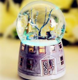 Kristall-spieldosen online-Neue ++ + Kreative Einstellungen für die Music Box von Jimmy Meet Snowflake Crystal Ball