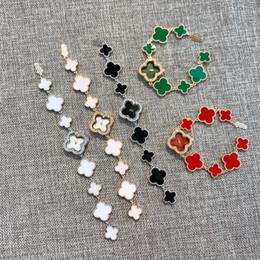 Orologio vintage della donna online-abito orologio di lusso trifoglio del Quattro-foglio delle donne dell'orologio fortuna Kitsch punk Drape annata dello smalto Glaze Shamrock modo di fascino regalo monili di festa