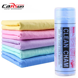 2019 auto pva tuch 43 * 32 cm PVA Chamois Autowaschhandtuchreiniger Autozubehör Pflege Home Cleaning Hair Drying Cloth rabatt auto pva tuch