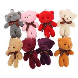 2019 12см плюшевые плюшевые медведи Фаршированные плюшевые мишки плюшевые игрушки животных ключ сумка подвески девушка детское душ партия пользу мультфильм подарки 12 см на рождество скидка 12см плюшевые плюшевые медведи