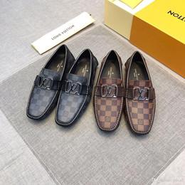 40fa768e9 18ss 2020 Designers marca italiana camurça de couro dos homens SLIP 0N  mocassins casuais sapatos de carro mocassim homens barco sapato borla  loafer sapato ...