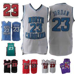 Argentina NCAA North Carolina Tar Heels 23 Michael Jersey Raptors Vince 15 Carter Atlanta # 55 Camisetas de baloncesto Mutombo 100% cosidas cheap atlanta jerseys Suministro