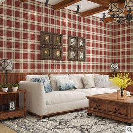 Papel de parede lattice on-line-Simples Europeu Inglês Estilo Clássico Lattice Wallpaper Quarto Sala de estar Quarto das Crianças Hotel Environme