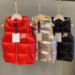 Maglia calda dei capretti online-2019 Moda bambini Capispalla Capispalla Warm Vest Casual Down Vest Brand 90% piumino bianco sottile e leggero