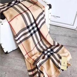 Sciarpa di lusso in cashmere invernale Pashmina per donna Designer di marca Sciarpa a quadri calda da uomo Moda donna imitare Sciarpe di lana di cashmere 180x70cm 20 da