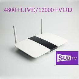 Caja de tv android árabe online-Subtv 1 año con Q1604 árabes Dalletek inteligentes Android TV Box de 1 año de suscripción Subtv Turco Francés Español Portugal Vivo