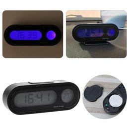 Carro LCD Backlight Digital Clock Auto Assista Termômetro Ornamento Mini Relógio de Fornecedores de peças de relógio de parede de quartzo