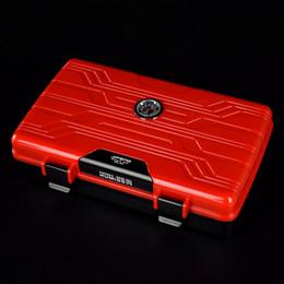 humidificador charutos Desconto Único Vermelho Cor Gloden Jifeng Multifuncional Viagem Charuto Humidor Com Cobre Soco 2 Umidificador Caixa Super Popular Muito personalizado