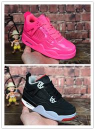 promo code f6e3a b0700 Chaussures enfants Basketball Chaussures Vente en gros Nouveau 4 espace jam  72-10 CNY 4S Sneakers enfants Sport Running fille formateur garçon taille  28-35 ...