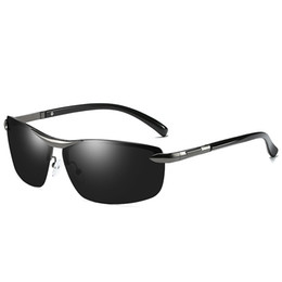 top drivers Coupons - Men's Brand Designer Sunglasses Men's Anti-Glare Polarized Sunglasses Men's Half Frame Color Sunglasses Driver Glasses Top Riding Glasses