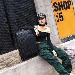 Canada Femmes sac de valise trolley Voyage mode hommes tissés populaire portent sur PU roulement de bagages sur roues 16