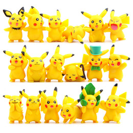 juegos de video de alta Rebajas Alta calidad 18 unids / set Pikachu PVC figuras de acción películas videojuego muñeca para niño mejores regalos 3-5.5 cm