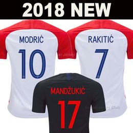 nationale fußball-kits Rabatt 2018 Kroatien Fußball Trikot Welt Cup Croatia Hrvatska MODERN MANDZUKIC RAKITIC soccer jersey football shirts PERISIC KALINIK SRNA KOVACIC Nationalmannschaft Fußball Shirt AAA Thai