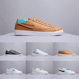 2019z Novedades Sb Zoom Blazer Mid prm Clásico Retro Zapatos de skate Zapatos para correr en pareja Zapatillas de deporte de cuero de corte bajo 36-44 desde fabricantes