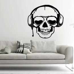 2019 cráneos de auriculares 20190621 Auriculares de Halloween Tienda de cráneos Casa fantasma Decoración de cine Sala de estar Punto de fondo rebajas cráneos de auriculares