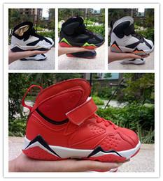 Vendita all'ingrosso di bambini 7 7 Scarpe da basket a buon mercato di buona qualità boy girl 7S in vendita Scarpe sportive per bambini Pelle Ragazzi Scarpe da basket nuove da
