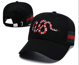 c26fc54685c popular snapback hat brands 2019 - Luxury hats Women Men Brand Red snake  logo Designer Casual