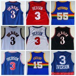 basketball trikot material Rabatt 2018 Georgetown Hoyas 30 Material All Iverson 3 Alle Iverson College-Jersey New Rev Shirts Uniformen Rot Grau Blau Weiß Schwarz