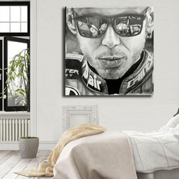 portraits nudes Coupons - Valentino Rossi Quote Portrait Canvas Painting Wall Picture Poster And Print Decorative For Living Room Home Decor