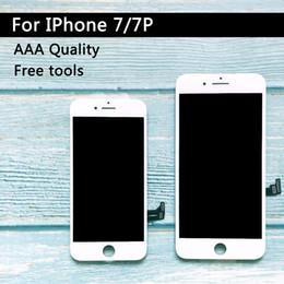 2019 iphone vidrio frontal dorado Venta de la fábrica LCD de repuesto para Iphone 7 más Pantalla LCD de pantalla digitalizador Asamblea táctil para el iPhone calidad de la pantalla LCD de 7