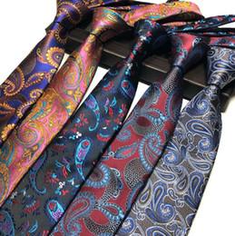 2019 vestidos de novia puros purpúreos Nuevo diseño para hombre corbata elegante hombre floral Paisley corbatas 145 * 8 * 3.8 cm clásico negocio casual boda corbata