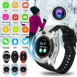 v8 sport smartwatch Promo Codes - v8 Smart Watch sim card Men camera rounded Answer Call Dial Call Smartwatch android Fitness Tracker Sport