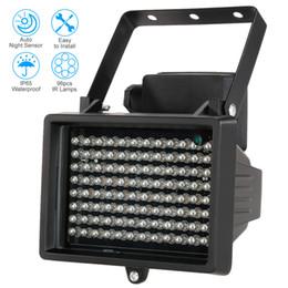iluminador led camara Rebajas Visión nocturna de las lámparas de iluminación infrarroja de 96 LED IR para la cámara de vigilancia CCTV de luz de relleno al aire libre