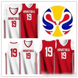 scuola nera degli alti talloni Sconti numero nome personalizzato 2019 della Coppa del Mondo di pallacanestro Croazia maglie bianco rosso cucito Shirt Size: S-3XL