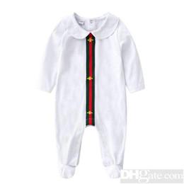 trompete bowknot Rabatt 2019 Rundhals Baumwolle Uniform Kleidung Neugeborenes Babyspielanzug Junge Mädchen Kleidung Langarm Infant Produkt Frühling Autumn-18