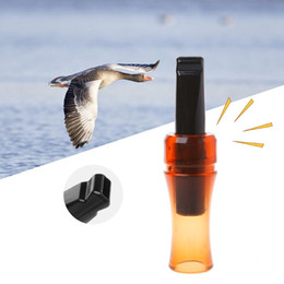 охота на уток Скидка Outdoor Hunting Whistle Crow Call Animal Simulate Sound Attract Wild  Chicken Shooting Supplies Plastic Decoy Duck